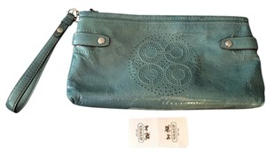 Coach Tag Wristlet in Lagoon