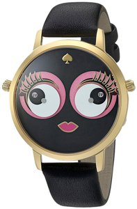 Kate Spade NWT Metro Black Leather Strap Watch KSW1233