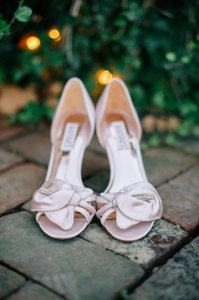Badgley Mischka Bride Badgley Mischka Meribeth Light Pink Satin Shoes Wedding Shoes