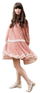 Floreat short dress PEACH/NUDE Boho Anthropologie Free People Figue on Tradesy
