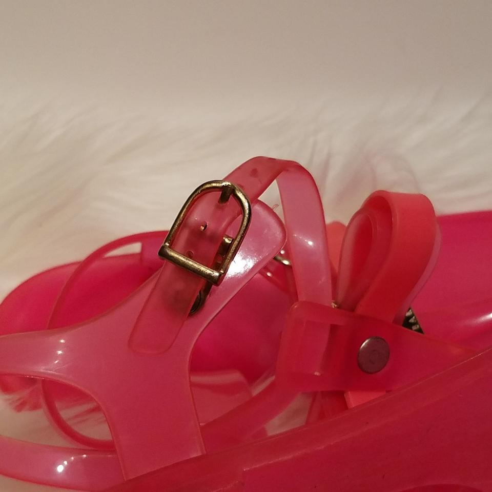 73fc2d3f6c0e63 Ted Baker Pink Deynaa Jelly Sandals Size US 6 Regular (M