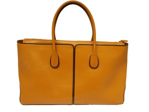 Tod's Leather Brown Tote in Tan Brown