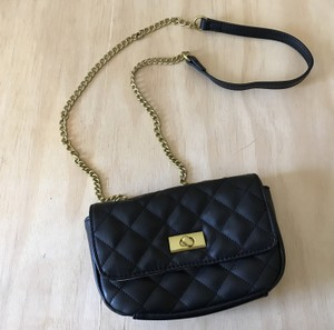 J.Crew Quilted Gold Chain Cross Body Bag