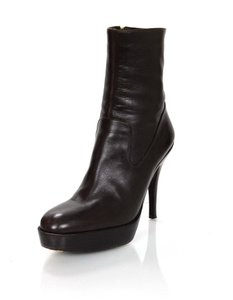 Saint Laurent Ysl Yves Leather Brown Boots