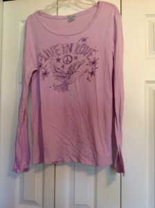Lucky Brand Lucky Peace Dove Live In Love T Shirt Lavendar