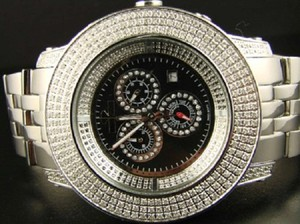 Techno Link Mens 6.5 Ct Technolink/Joe Rodeo 3 Row Diamond Watch