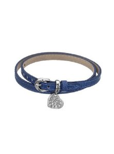 Guess WRAP BRACELET WITH HEART CHARM