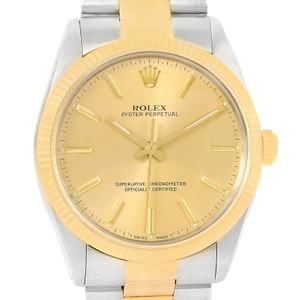 Rolex Rolex Oyster Perpetual Steel 18K Yellow Gold Vintage Mens Watch 1005