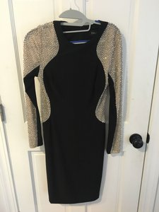 Xscape Longsleeve Beaded Dress