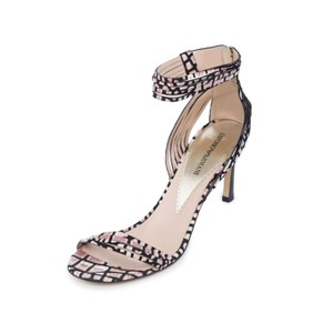 Emporio Armani Pumps High-end Mid-heel Beige Black Sandals