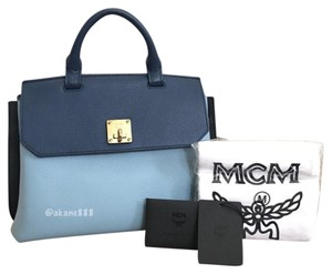 MCM Backpack Handbag Satchel in Blue (colorblock)