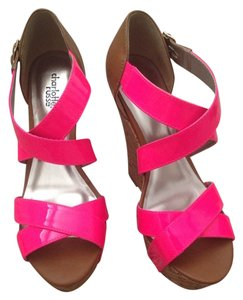 Charlotte Russe Brown And Pink Wedges