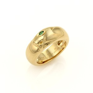 Cartier Cartier Panthere 18k Yellow Gold Emerald Band Ring Size EU 52