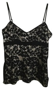 DKNY Night Out Date Night Lace Applique Top Black