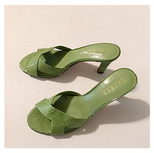 Lauren Ralph Lauren Dark Mint Green Sandals