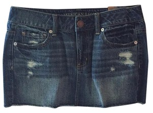 American Eagle Outfitters Mini Skirt Blue wash