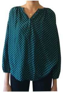 Dora Landa Silk Top Blue/Teal