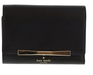 Kate Spade NWT KATE SPADE CAMDEN WAY CALLIE LEATHER TRIFOLD BLACK WALLET $148