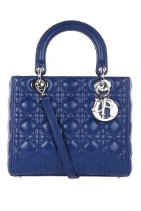 Dior Lady Leather Tote in Royal Blue