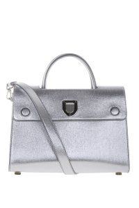 Dior Diorever Leather Handbag Tote in Metallic Silver
