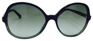 Chanel Chanel Black and Green Gradient Oval Sunglasses 5351 59