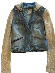 Billabong Jean and Tan Womens Jean Jacket