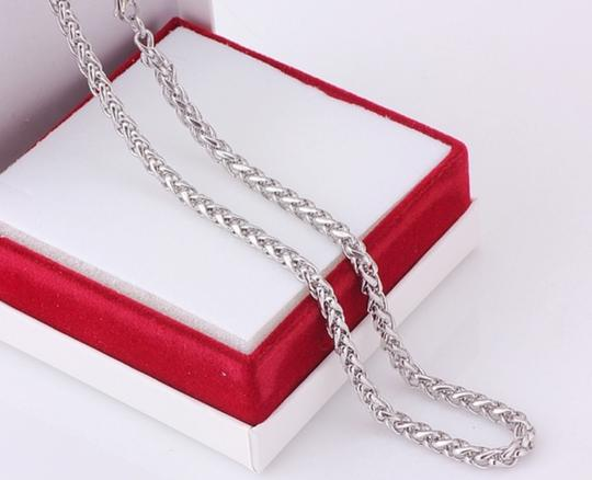 Other ** NWT ** STAINLESS STEEL unisex ( 4MM / 22 INCH ) BASKET CHAIN Image 1