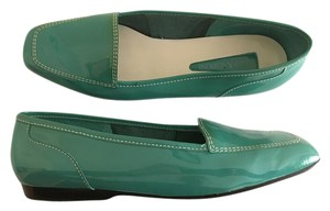 Enzo Angiolini Patent Leather Bright Spring Loafer Teal Flats