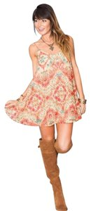 Show Me Your Mumu short dress Camel Floral Print on Tradesy