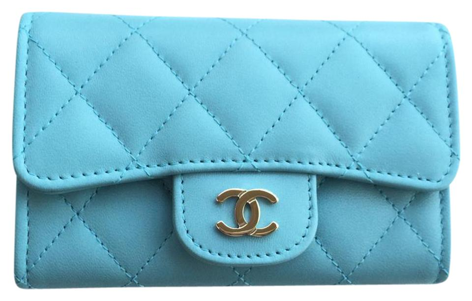 d6bfd6cac4e3 Chanel 17c Light Blue Card Holder Wallet - Tradesy