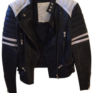 Ralph Lauren Black/White Leather Jacket