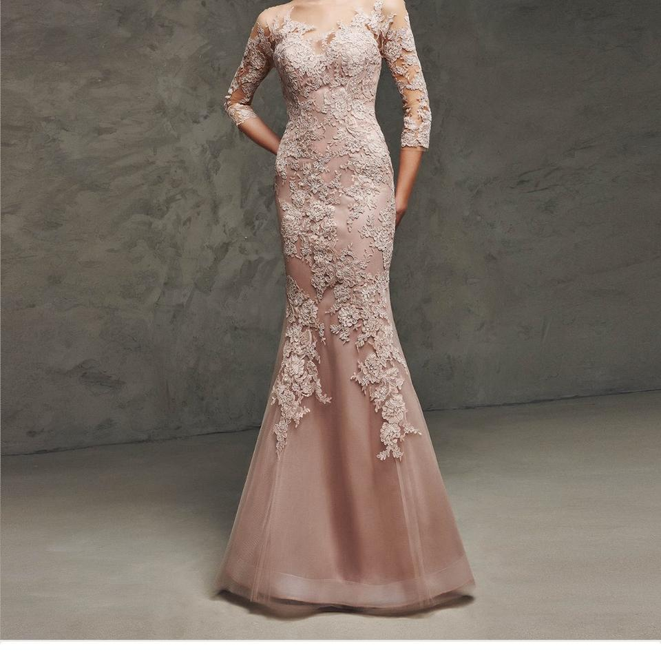 7c66843db1f Pronovias Rose Mother Of The Bride Gown Formal Bridesmaid Mob Dress Size 2  (XS