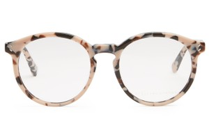 Stella McCartney Stella McCartney Pink Tortoise Cateye Round Frame Optical Glasses