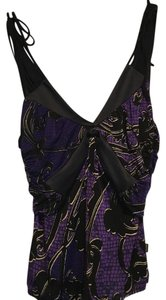 Roberto Cavalli Top purple print
