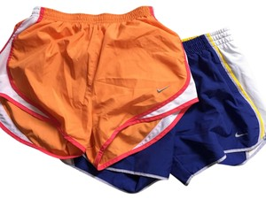 Nike purple with yellow, and orange with pink Shorts
