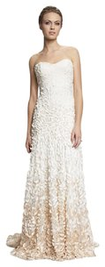Theia Ivory/Ombre Apricot Petals Courtney Wedding Dress Size 8 (M)