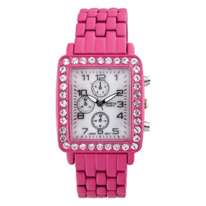 Geneva Square Face Rhinestone Watch