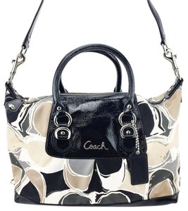 Coach F17650 Scarf Print Satchel in Multi-Color