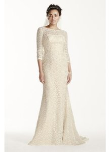 Oleg Cassini Beaded Lace 3/4 Sleeved Wedding Dress Wedding Dress