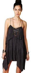 Free People short dress washed black Bohemian Beachy Flowy Comfortable on Tradesy