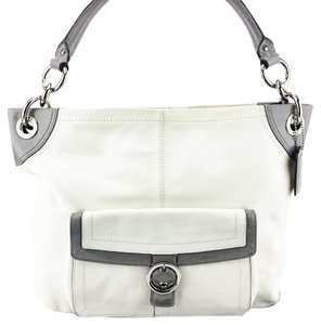 Coach Patent Buckle Leather Hobo Bag