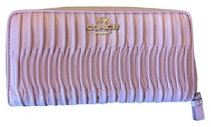 Coach Coach Pink Leather Zip Wallet