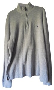 U.S. Polo Assn. Plus-size Logo Pullover/Zipper Stand Up Collar Vented Sweater