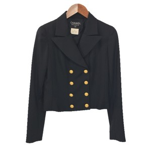 Chanel Gold Hardware Longsleeve Black BLACK/ GOLD Blazer