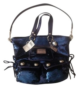 Coach Satchel in BLUE JEAN
