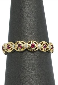 Other 14K Yellow Gold Natural Ruby and Natural Diamond Ring