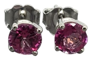 Other 14K White Gold Natural Pink Topaz Stud Earrings