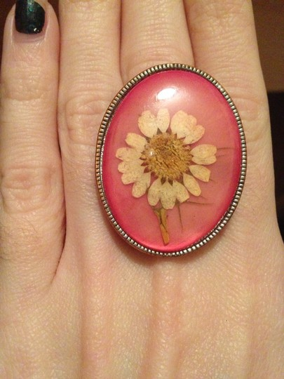 Other Handmade Natural Pressed Dried Flower Cocktail Ring