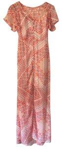 White, orange, red, brown multi Maxi Dress by Express