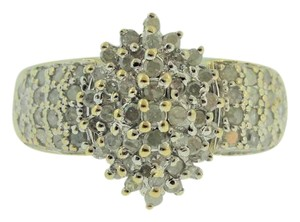 Other Vintage Flower Cluster Diamond Engagement Ring in 14k Yellow Gold